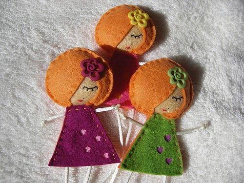 Plantillas de muñecas para broches de fieltro - Imagui