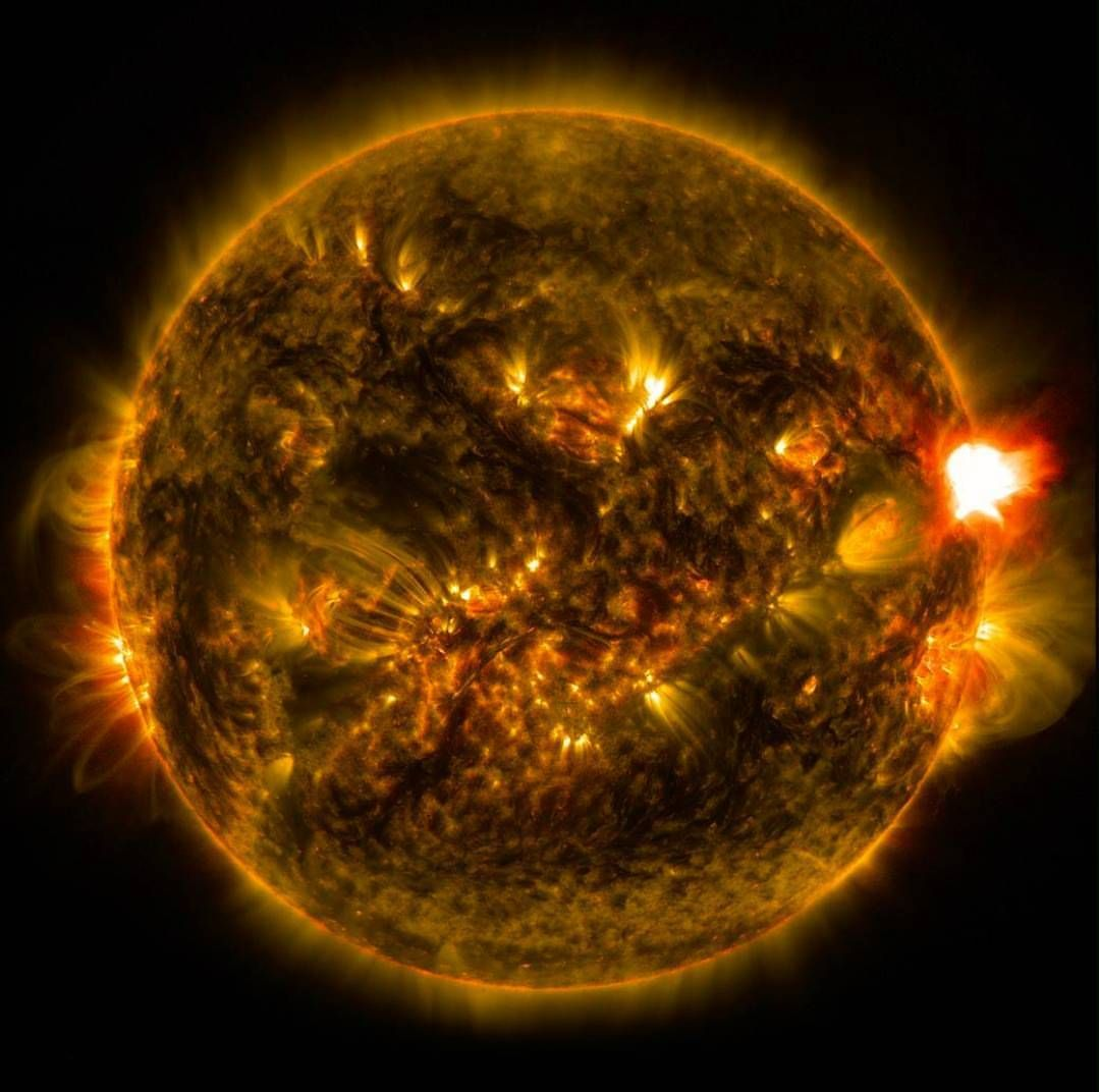 Located About 150 Million Km Away From Earth The Sun Is The Most