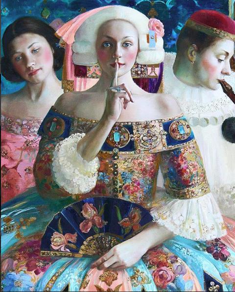 Enigma by Olga Suvorova, | Lovers art, Surreal art, Art painting