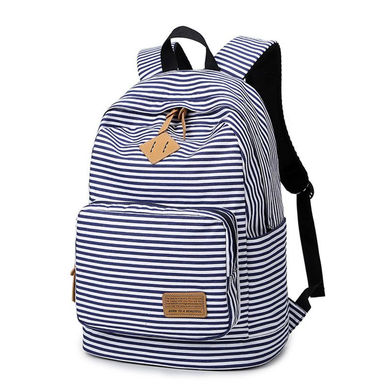 5e5a55c03f Feminine Backpack Striped Women Canvas Backpack Teenage Backpacks for Teen  Girls Teenagers Bagpack Youth Female Mochila