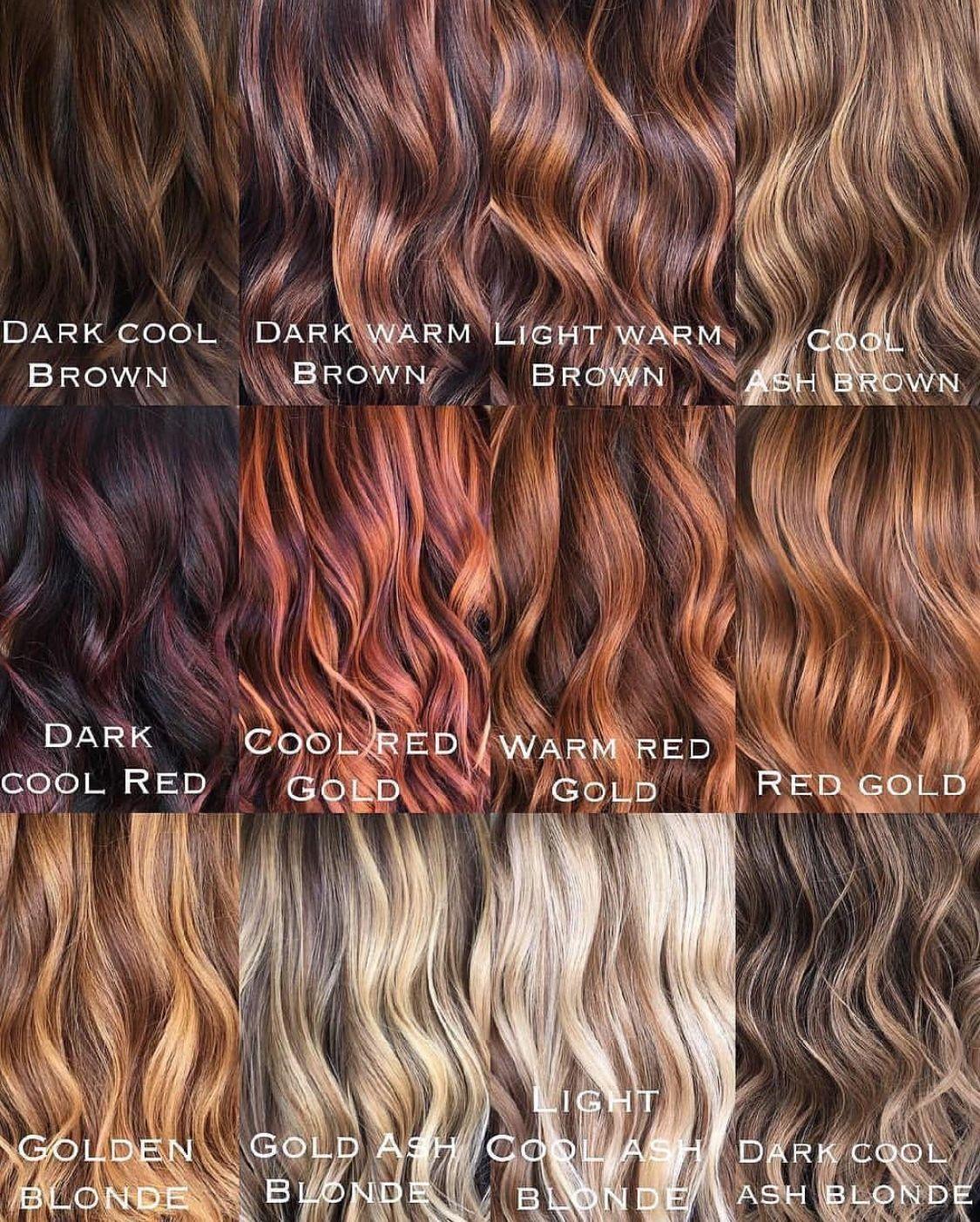 Pin By Rebecca Peralta On Gabi S Future Hair Hair Color Names Tone Hair Which Hair Colour