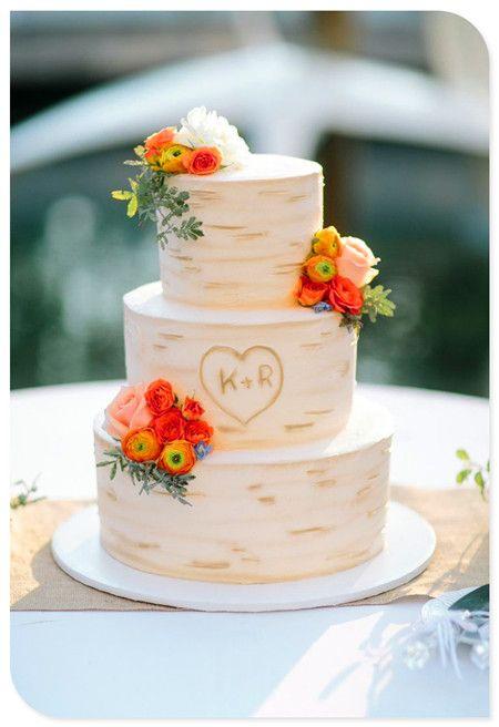 Order A Cake From A Local Bakery Tree Bark Barking FC And - Wedding Cake Tree Bark