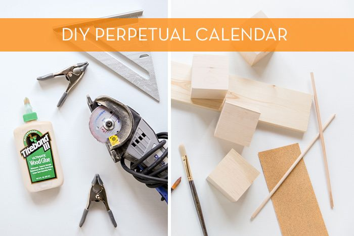 Modernize Your Boring Desk with this DIY Giant Wood Block Calendar - how to make a perpetual calendar