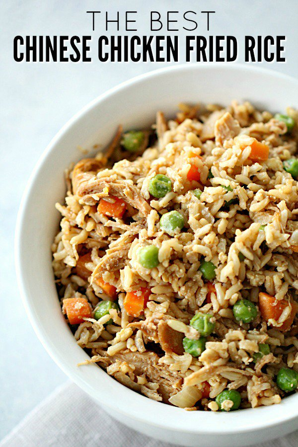 Chinese Chicken Fried Rice [Better Than Take Out]