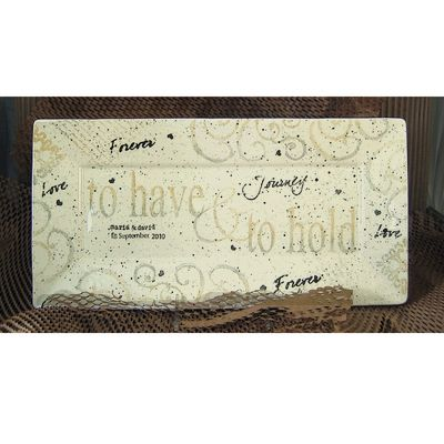 Name Art  Have and Hold Wedding Platter