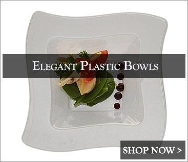 Elegant Disposable Dinnerware Plastic Wedding Plates Posh Party Supplies