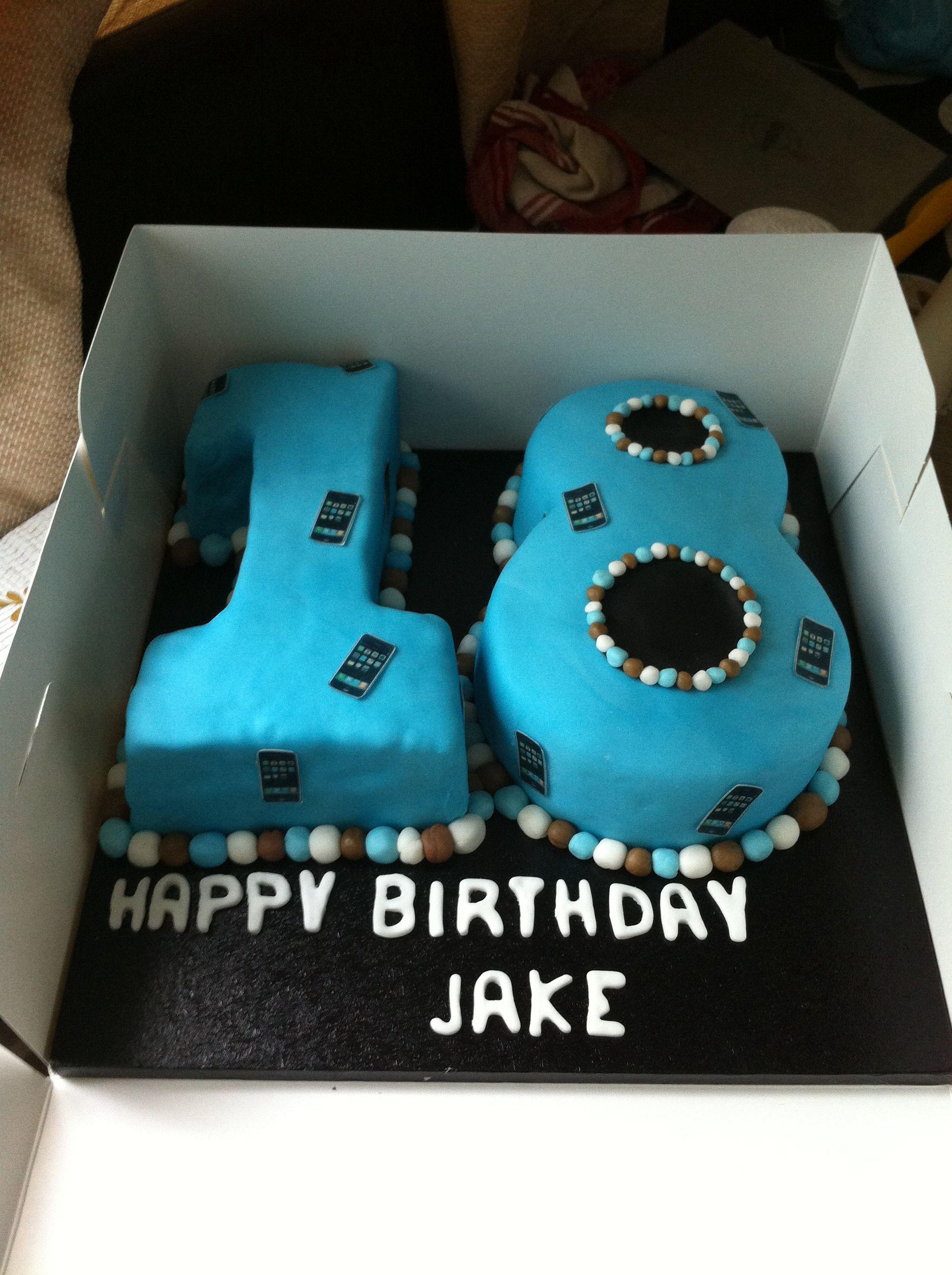 18th Birthday Cake Boy : birthday, Birthday, Chocolate, Sponge, Buttercream., Cake,, Party,