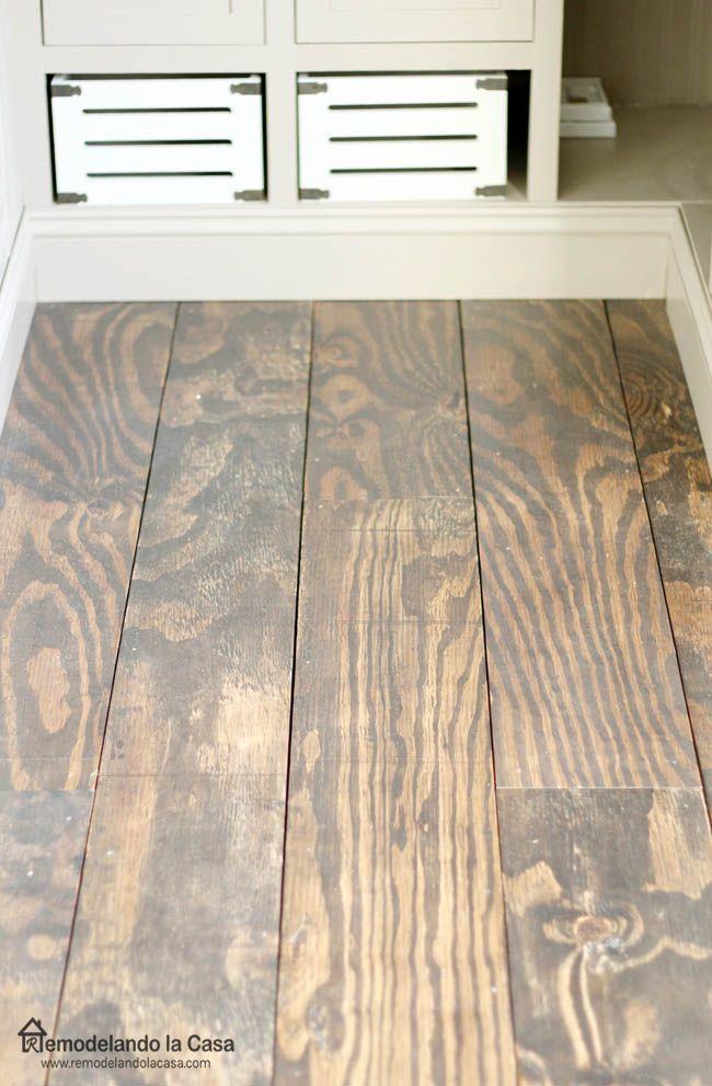Diy Plywood Floors In 2019 Plywood Plank Flooring