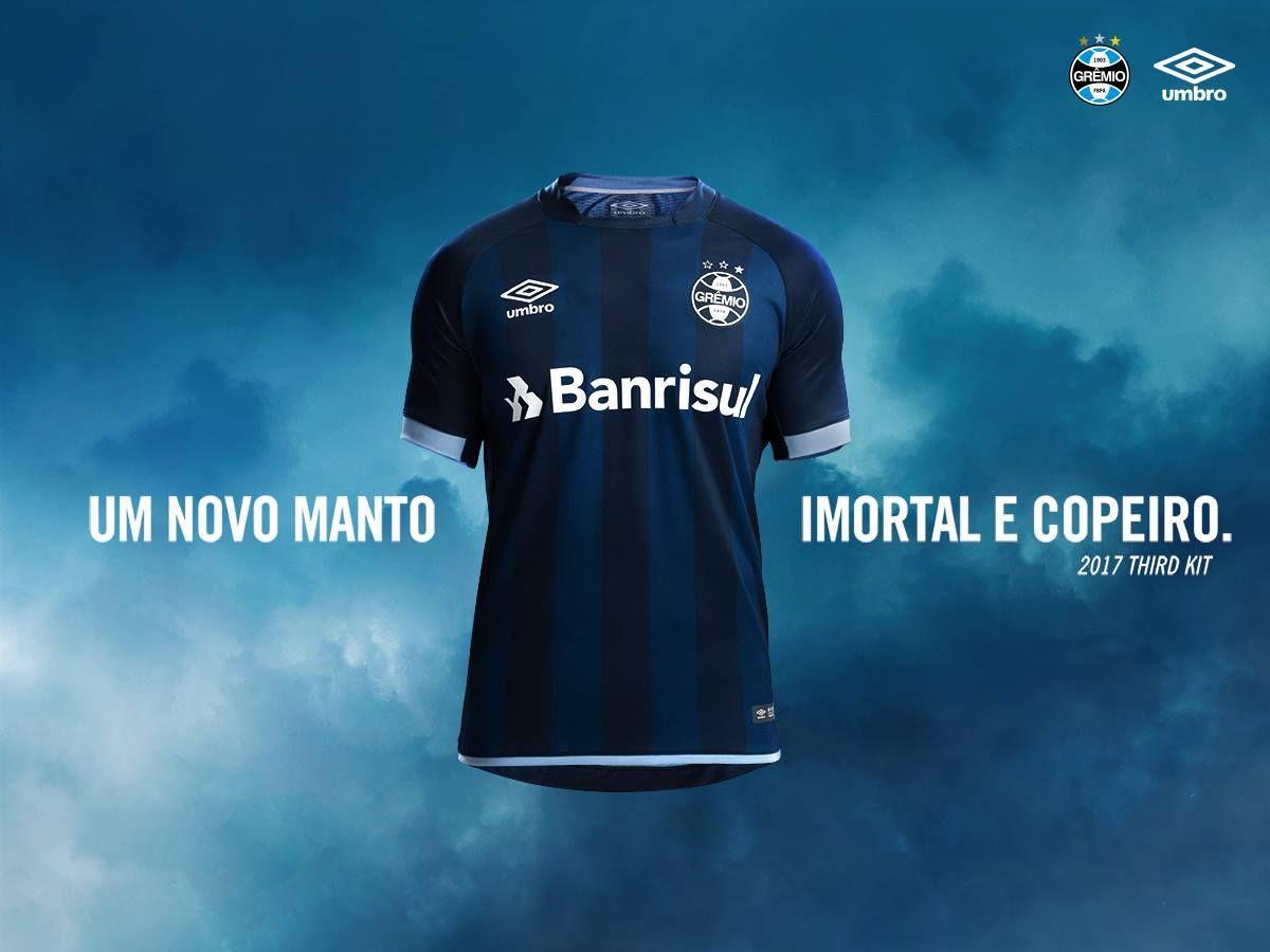 Nova terceira camisa do Grêmio 2017-2018 Umbro  fbd14a1513ead