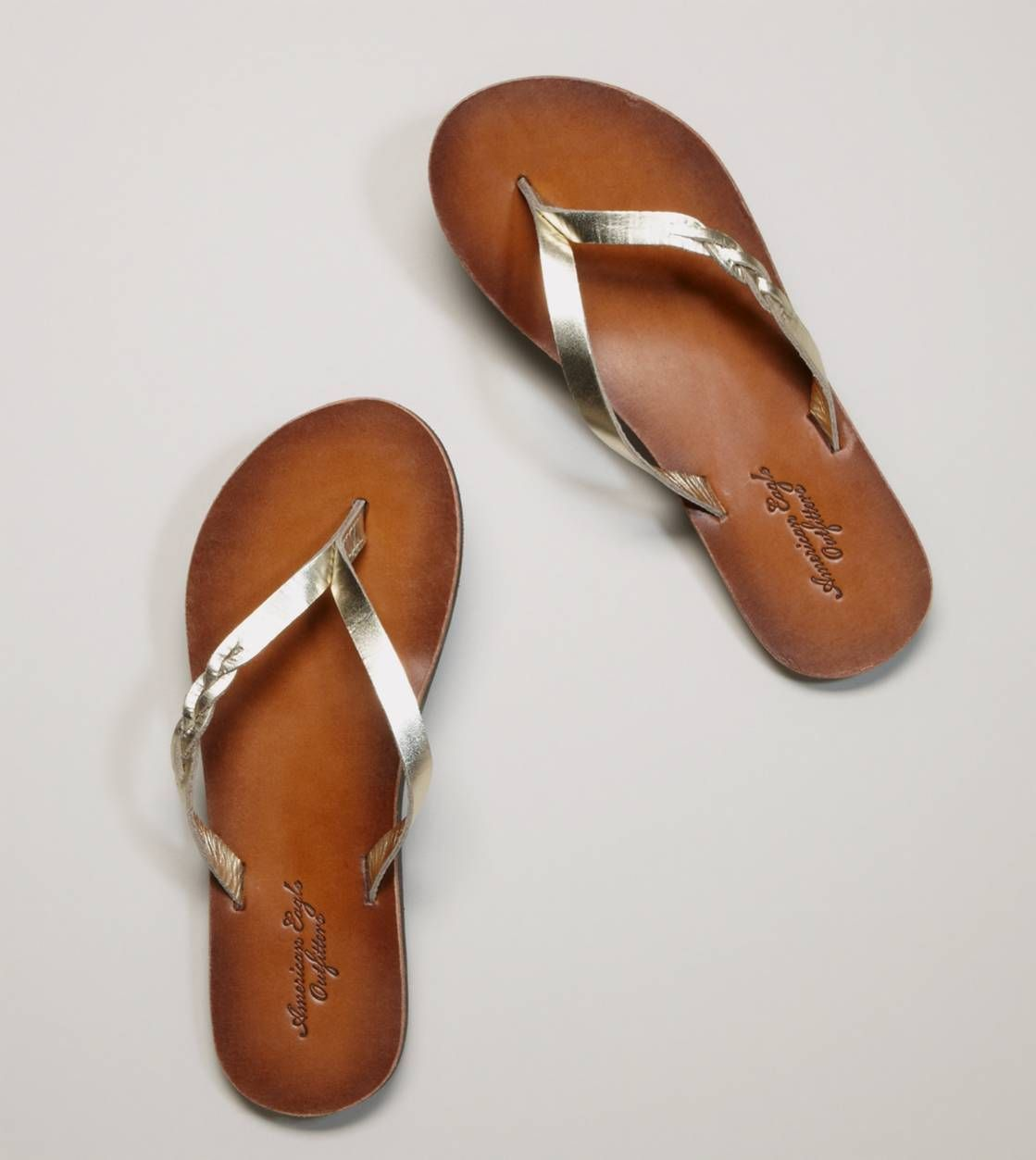 8eaa8869c AEO Braided Flip-Flop Want these in dark brown