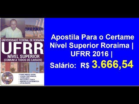 Apostila Certame Nível Superior Roraima | UFRR 2016 |