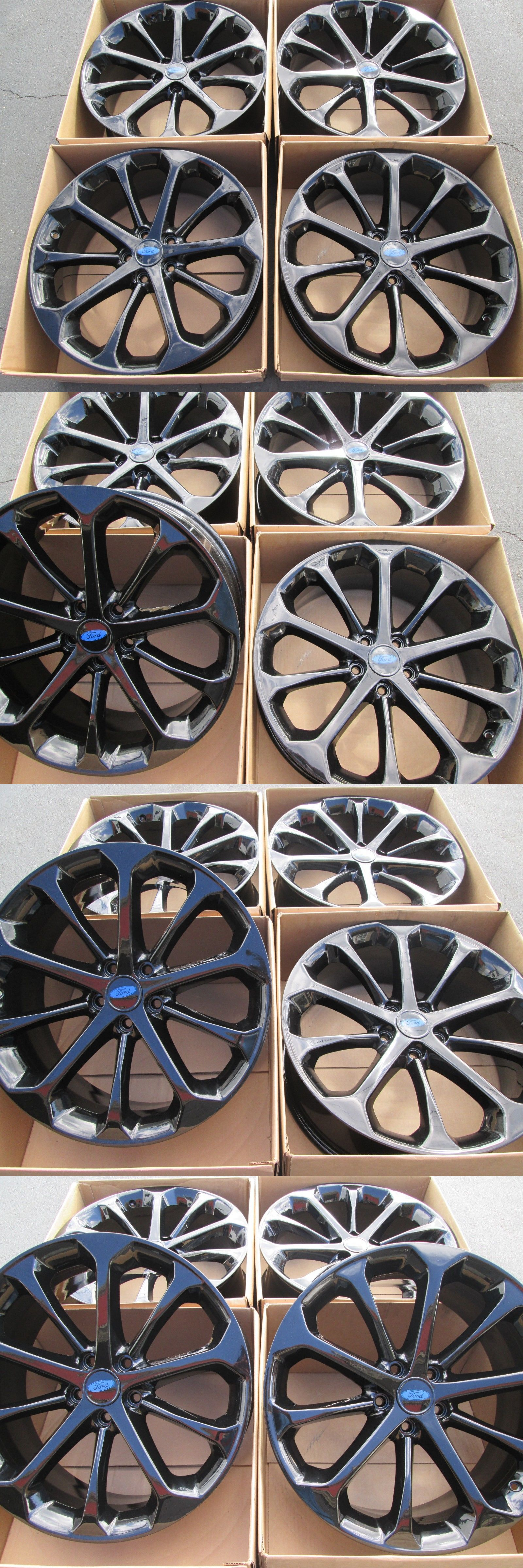 auto parts - general: 20 Ford Taurus Factory Oem Wheels Rims New Gloss Black Powder Coated Set 4 -> BUY IT NOW ONLY: $1009 on eBay!