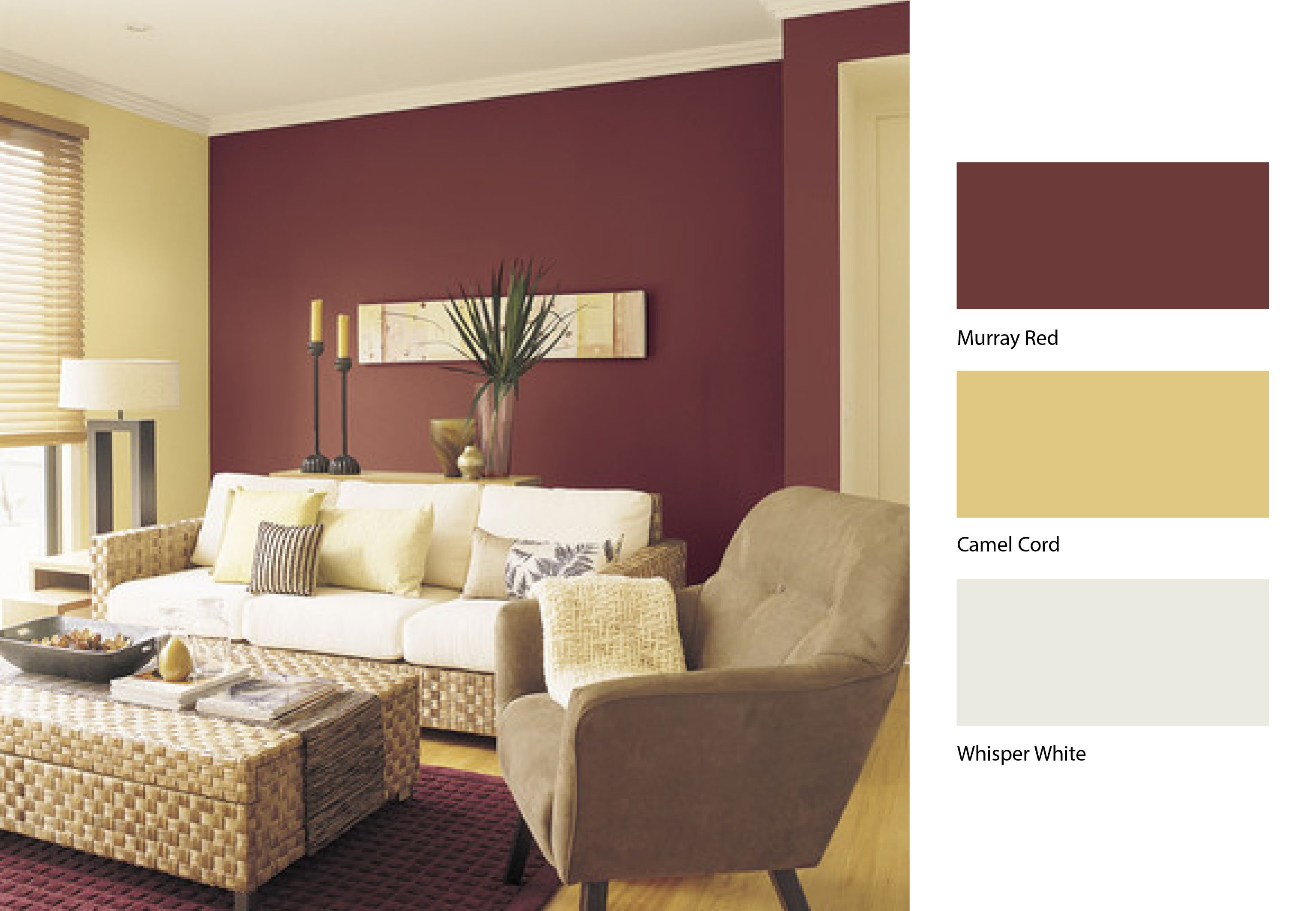 New Colours For Bedrooms Team Dulux Camel Cord With Dulux Murray Red To Breathe New