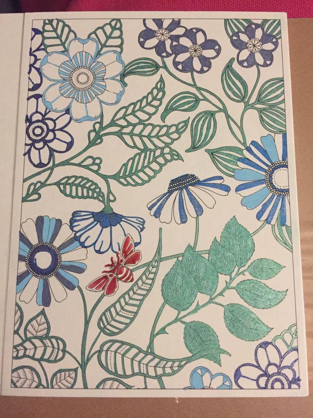 Secret Garden Postcards Colored With Smiggle Gel Pens