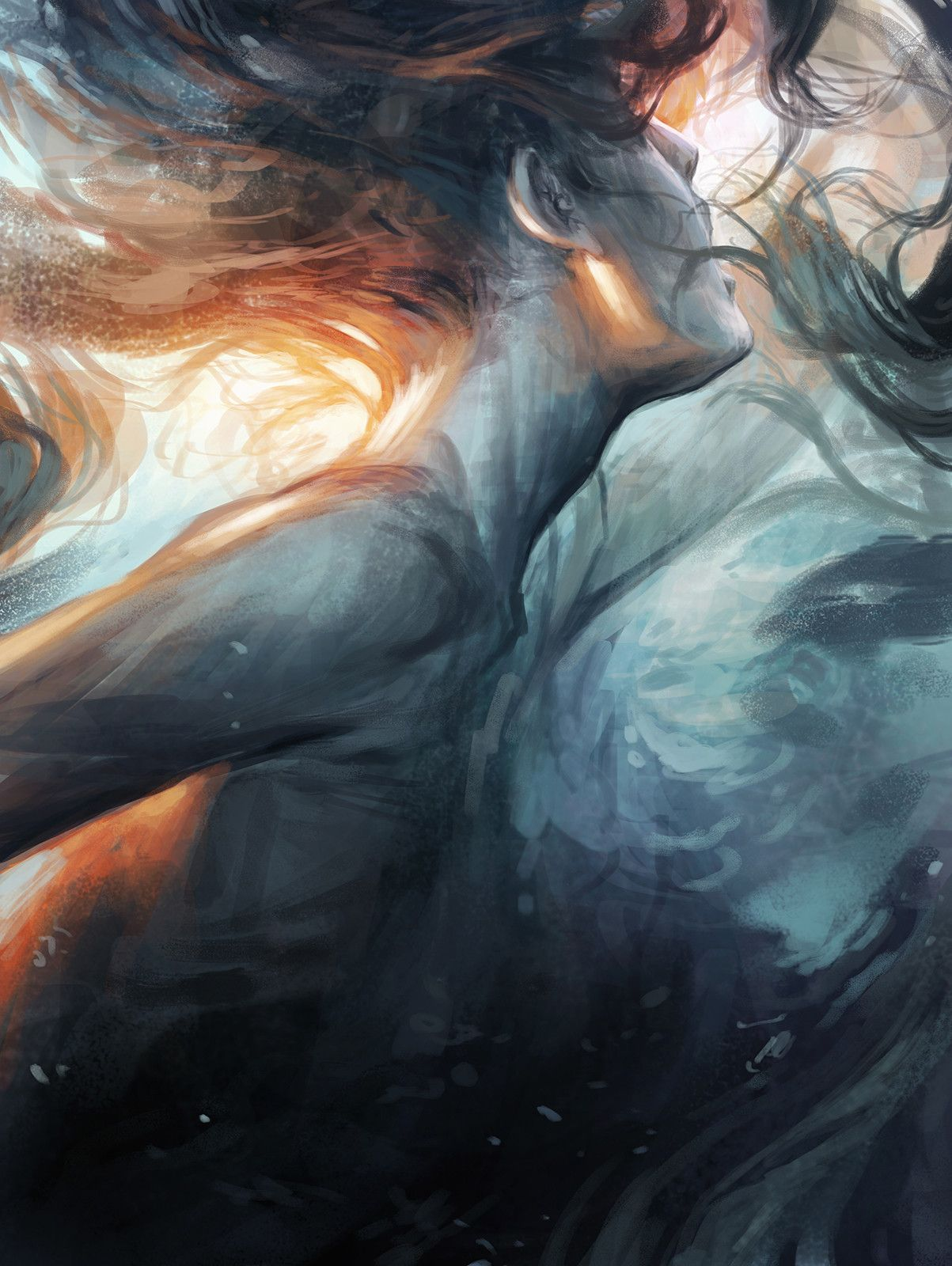 Submerge Charlie Bowater Art Painting Illustration Art