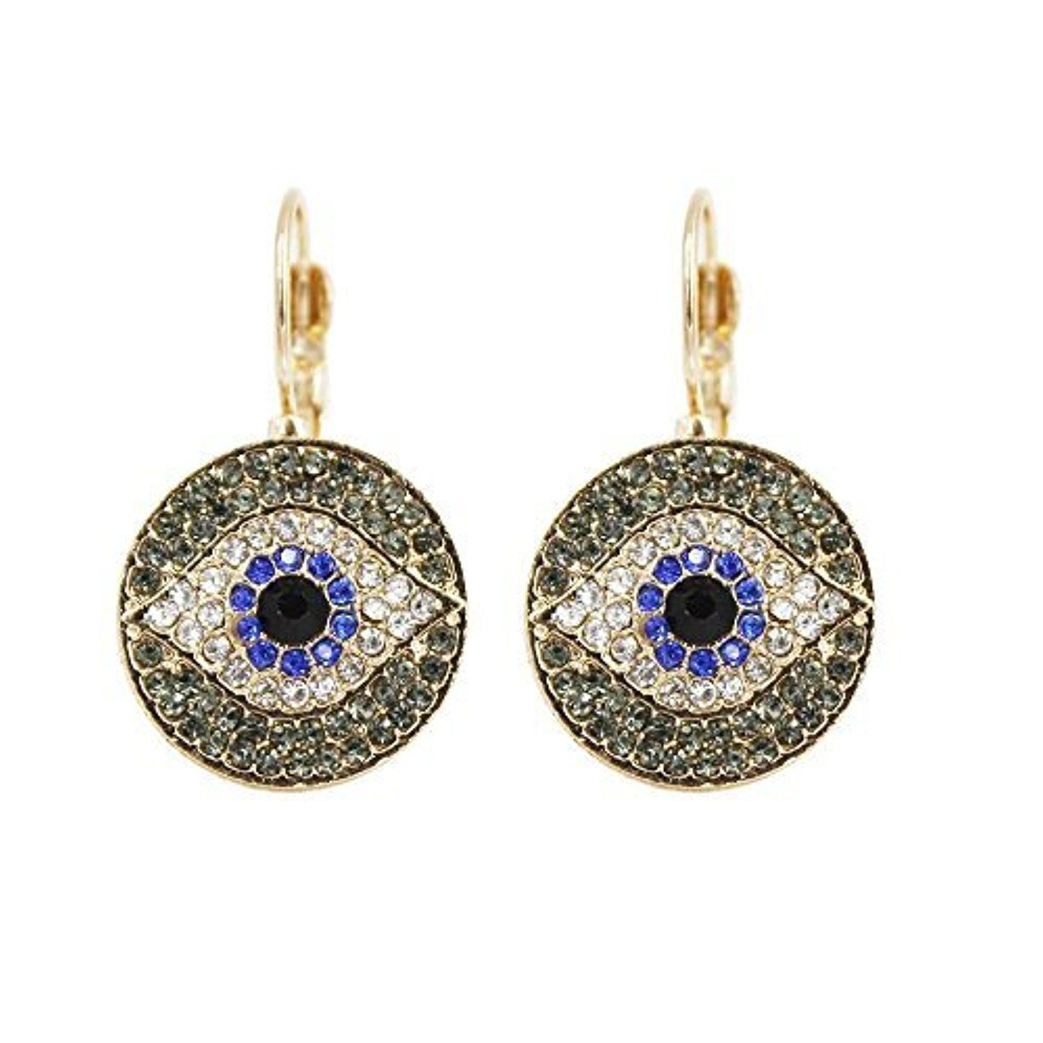 Darkey Wang Fashion Women's Unique Turkish Evil Eye Blue Eyes Earrings Bring You Good Luck by Darkey Wang -- Awesome products selected by Anna Churchill