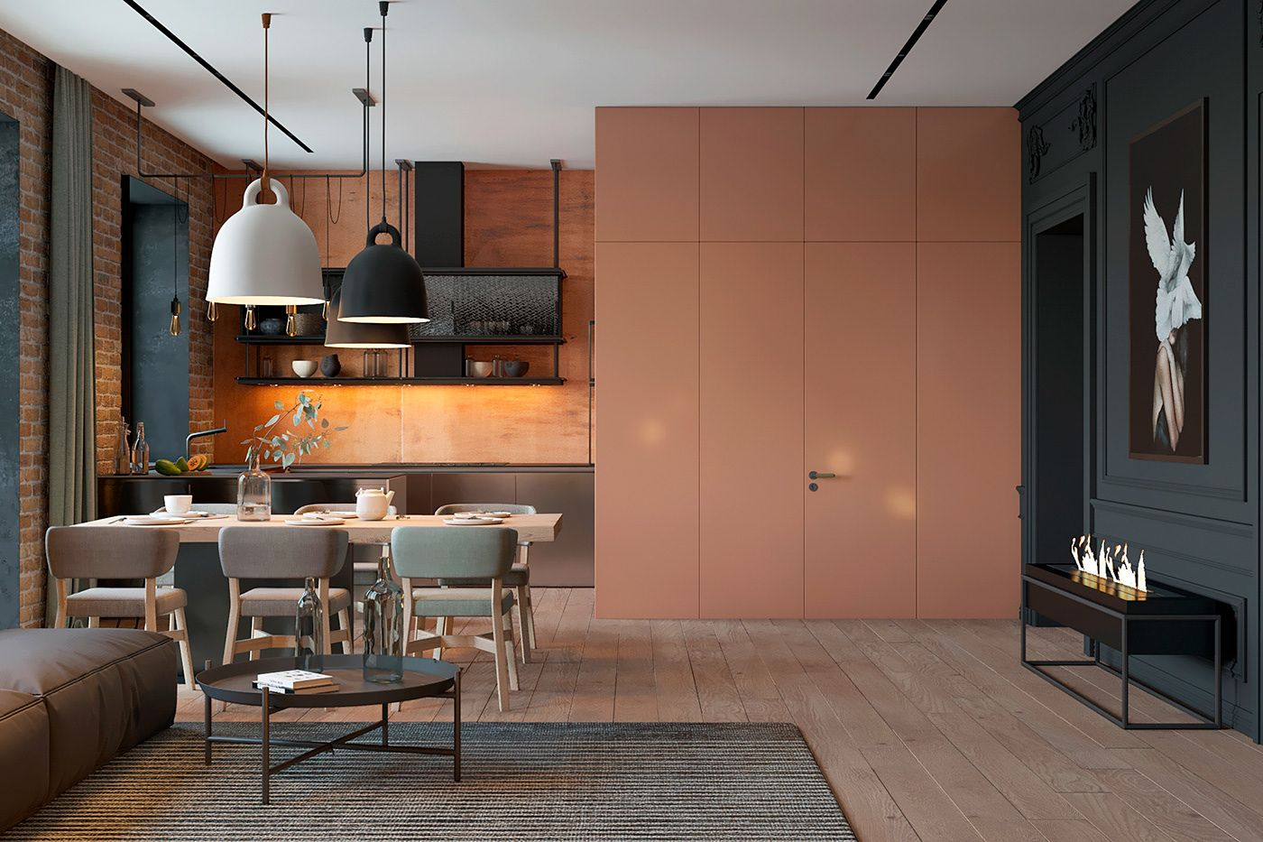 Patrick The Interior In Eclectic And Minimalist Style On Behance Appartement Minimaliste