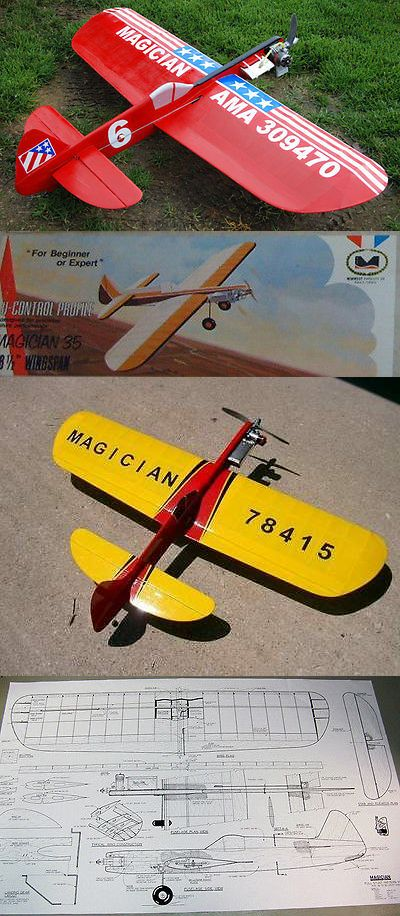 Control Line and Free Flight 34054: Model Airplane Plans (Uc