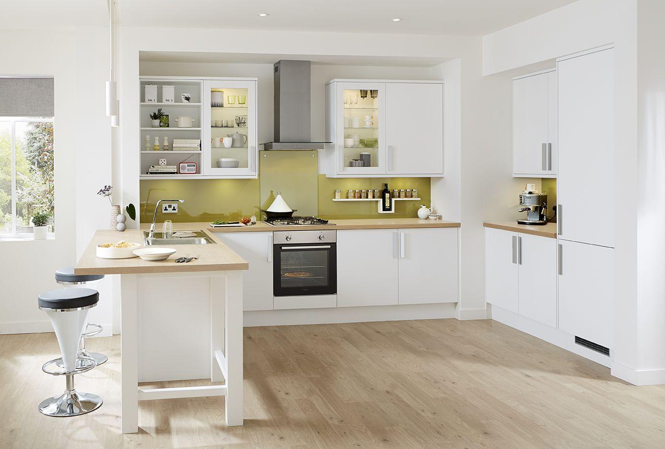 Howdens With Images Kitchen Design Small White Contemporary Kitchen White Modern Kitchen