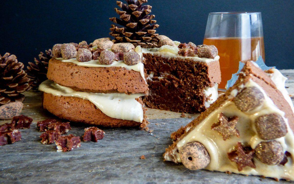 Chocolate orange and ginger cake vegan glutenfree