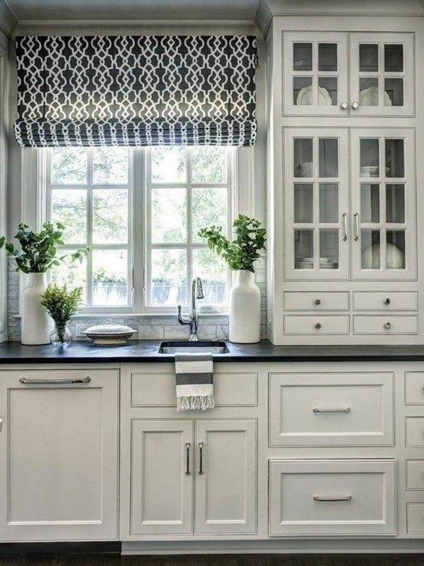Image result for roman shade kitchen window Küche Pinterest
