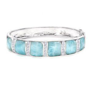 Larimar Bracelet Okay, I want this to add to my collection of Larimar! Love that stone! My larimar is square with diamonds this would look awesome with it!!!