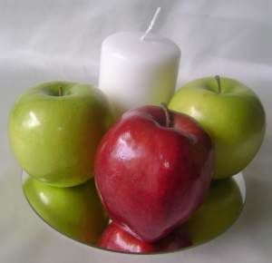 Apple Centerpiece Fresh Fruit Theme Wedding