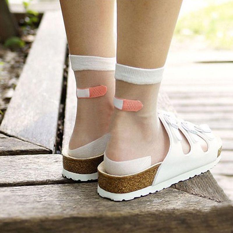 Haggis calcetines vaso estiramiento de seda OK transparente cristal calcetines mujer calcetines de seda calcetines en Medias de Moda y Complementos Mujer en AliExpress.com   Alibaba Group