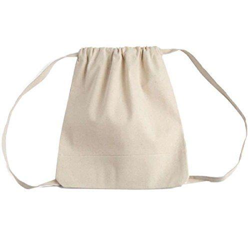 2126f8ce5146 Bagiva Canvas TwoTone Drawstring Sport Bag Backpack Gym Rucksack ...