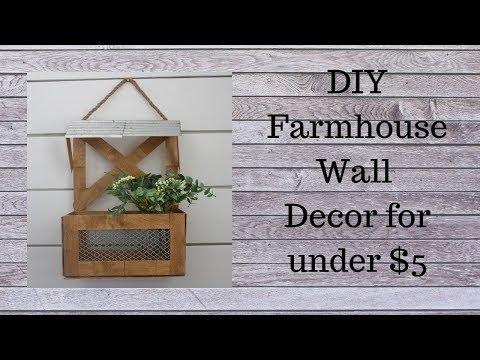 DIY Farmhouse Wall Decor for under 5 YouTube