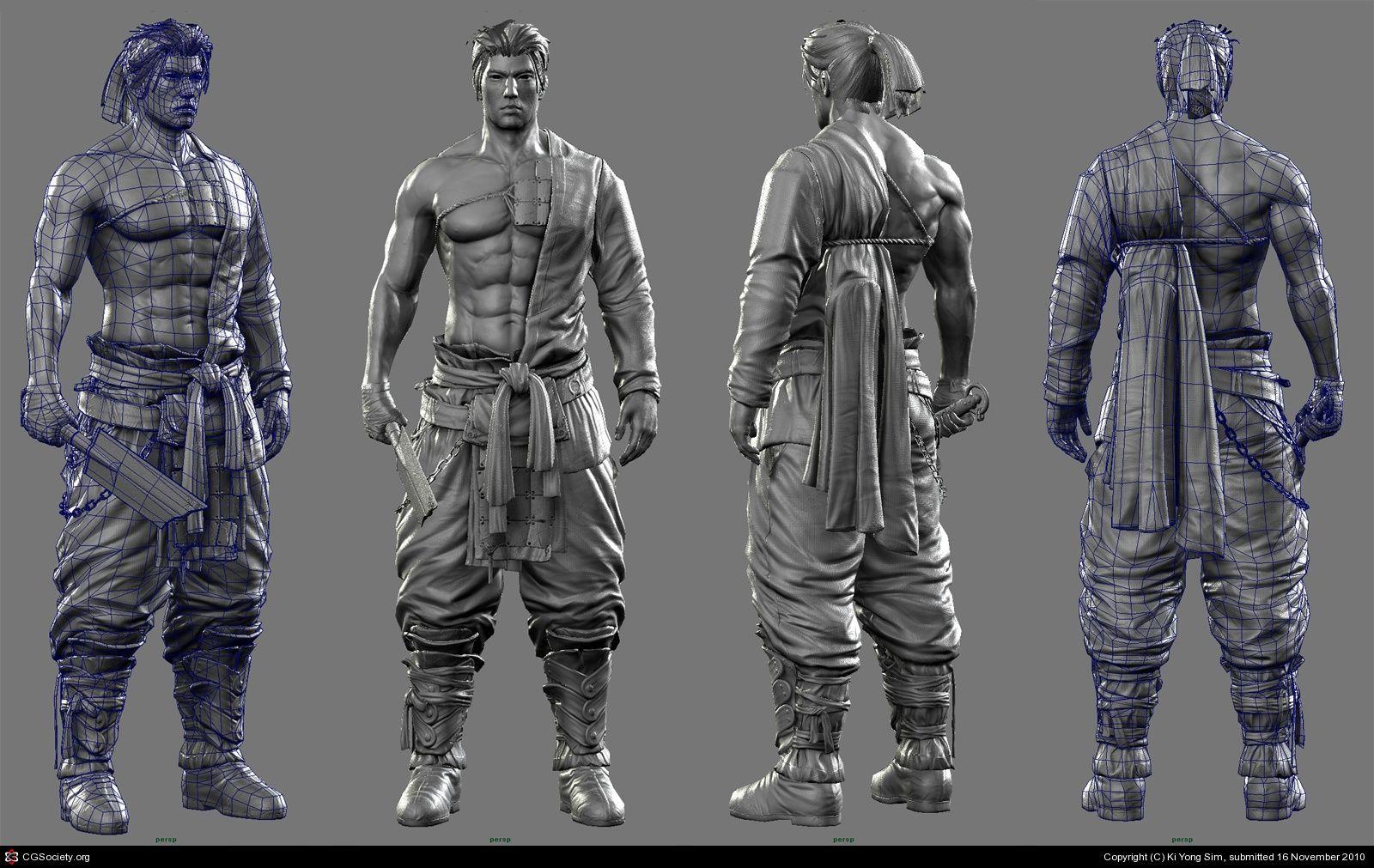 Blade Master(Realtime character)Modeling. by Ki Yong Sim
