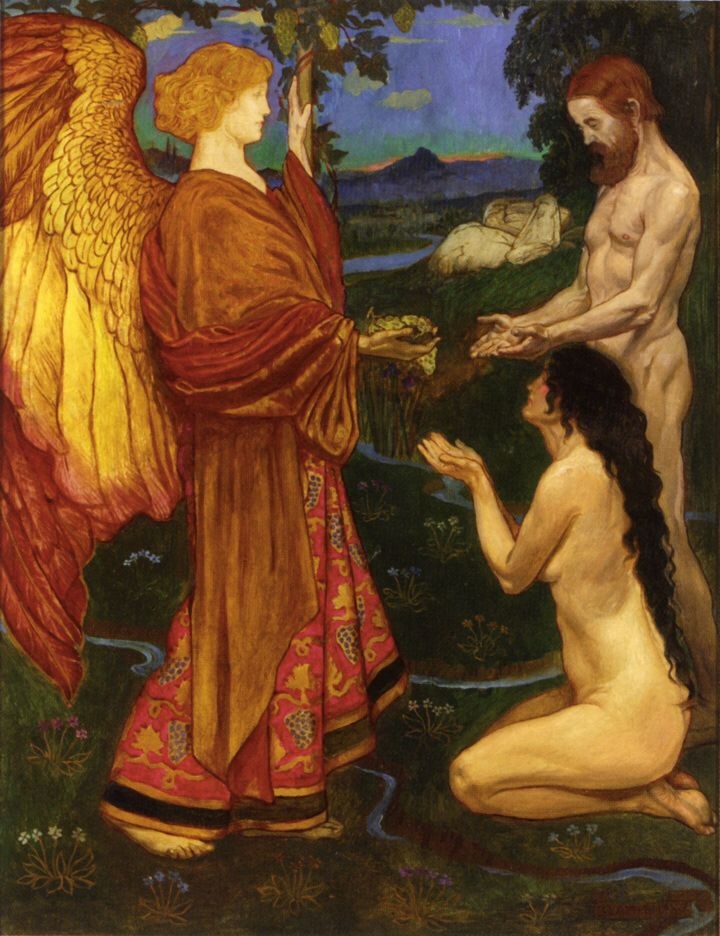 Imagen de http://artrenewal.org/artwork/438/438/41780/Shaw_John_Byam_the_Angel_before_Adam_oop-large.jpg.