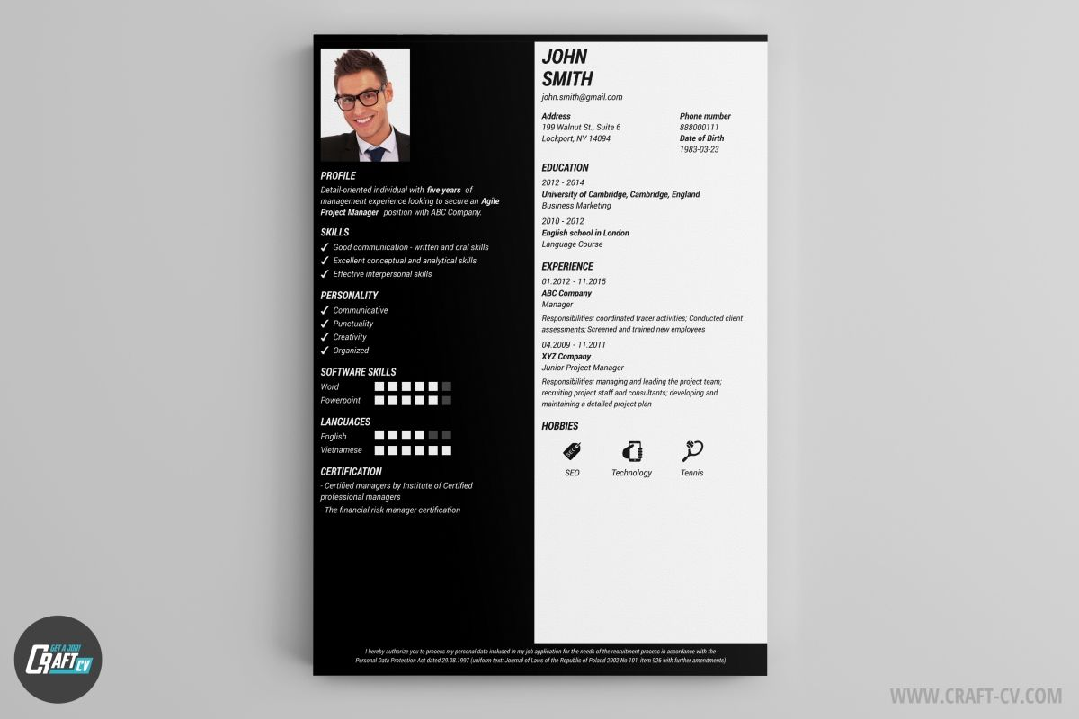 Cv Samples Downloadable Resume Template Resume Templates