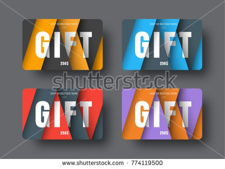 Gift card template in a modern style of material design with gift card template in a modern style of material design with floating overlapping papers a colourmoves