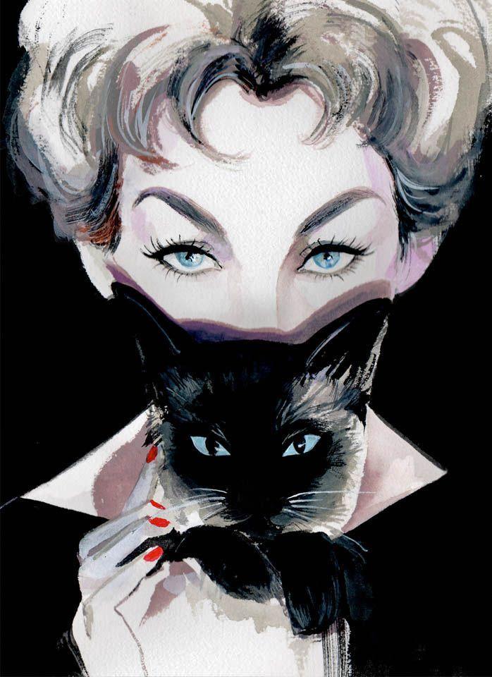 Kim Novak-the OG crazy cat lady by Regina Yazdi