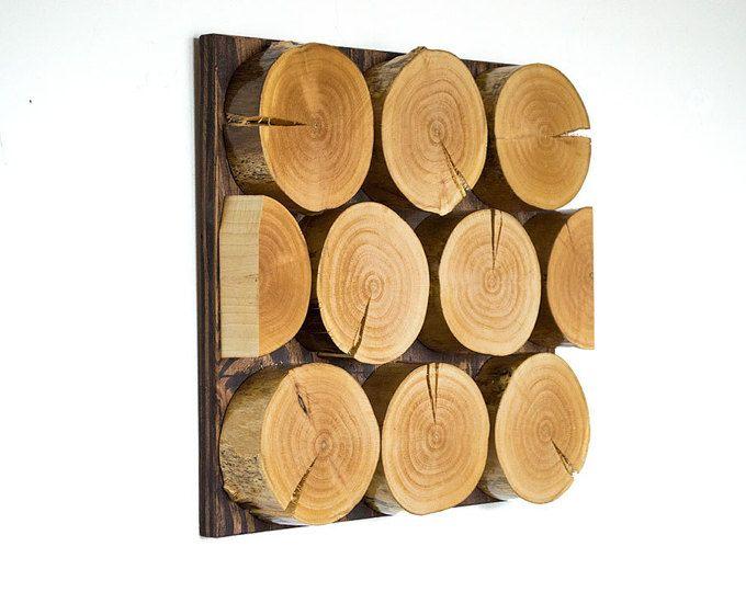 Reclaimed Wood Art - Tree Wall Art - Abstract - Modern Decor ...