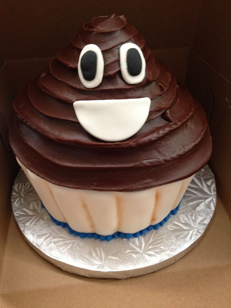 Poop Emoji Jumbo Cupcake? Yes We Can