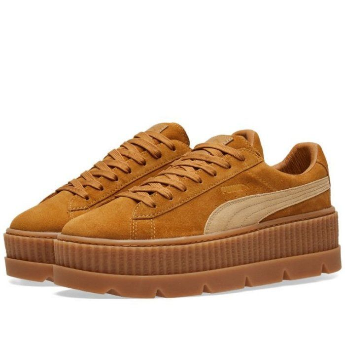 ab18692950e CodE  PUMA CLEATED CREEPER SUEDE RIHANNA 增高厚底鞋(卡其)366268-02 ...