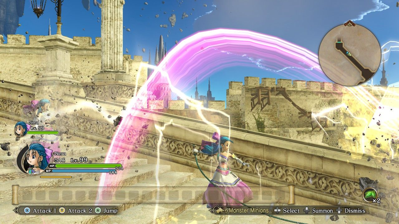 Dragon Quest Heroes II Nera Flora Double-Character Cheat Engine Mage