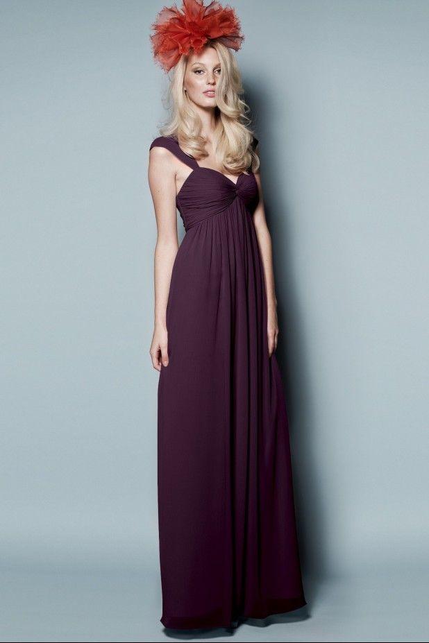plum #long bridesmaid dress #purple Price inquiry- service ...