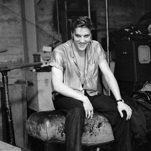 Elvis - from the Phil Harrington archives. Backstage at the fieldhouse of the University of Dayton, Ohio, May 27, 1956