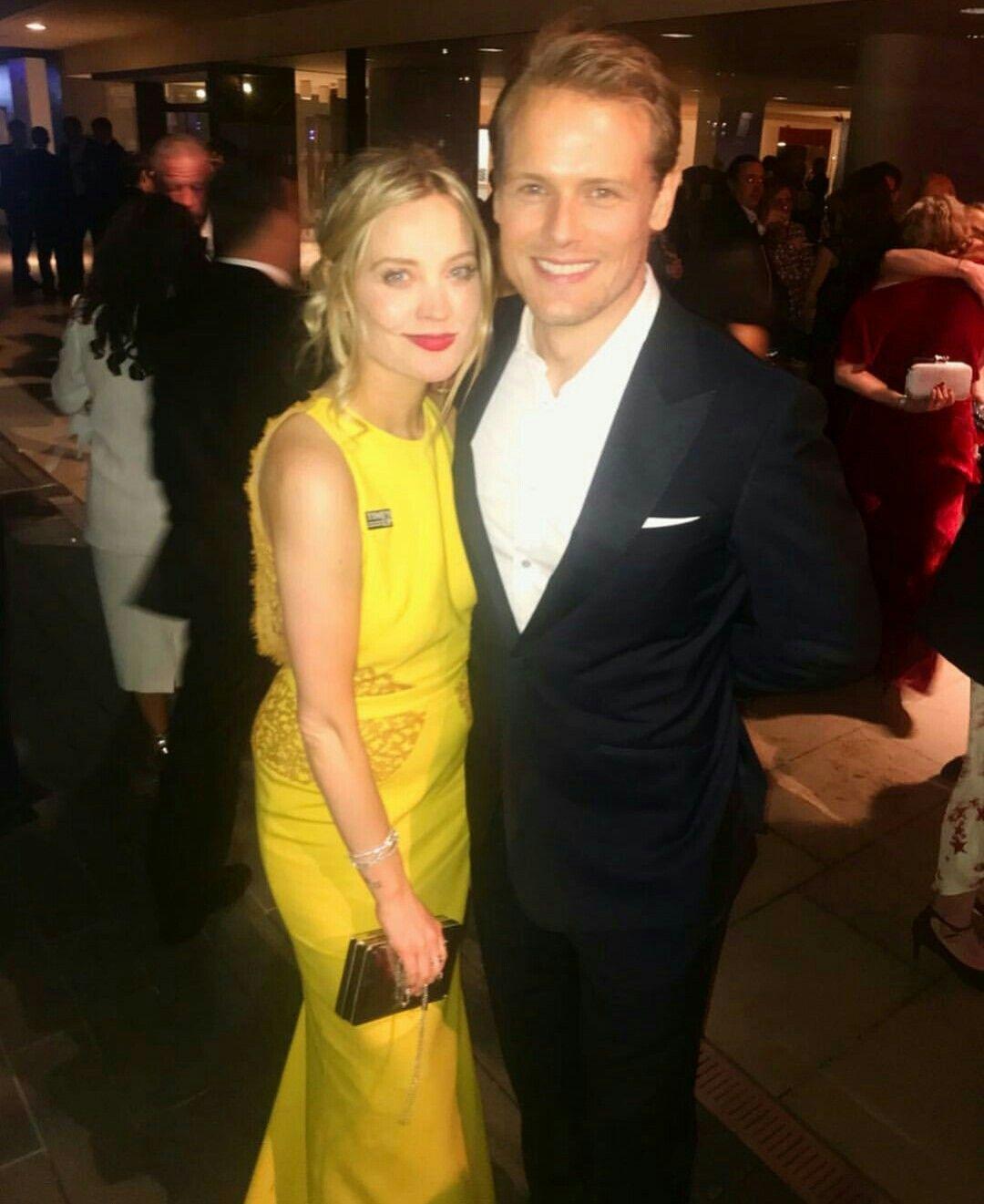 Sam With Laura Whitmore Baftas 2018 Sam Heughan Girlfriend Sam