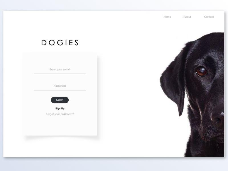 Dogies Sign In Login Login Page Design Login Design Web App Design