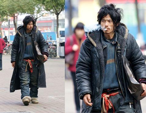 Trương Quốc Vinh Tren đường Phố Ninh Ba Homeless Clothes Fashion Military Outfit