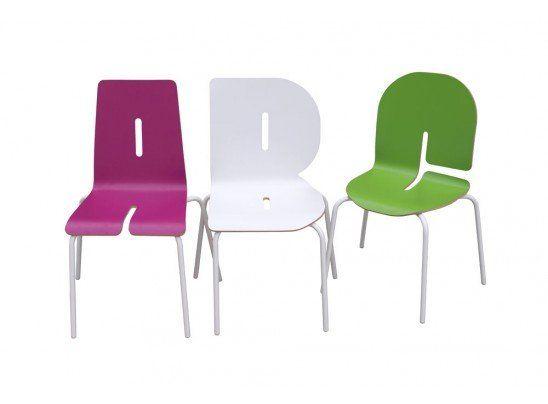 Chaise Kids Typographia Vert,  Matea