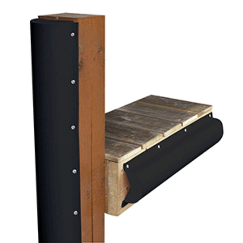 Dock Edge Piling Bumper - One End Capped - 6 - Black