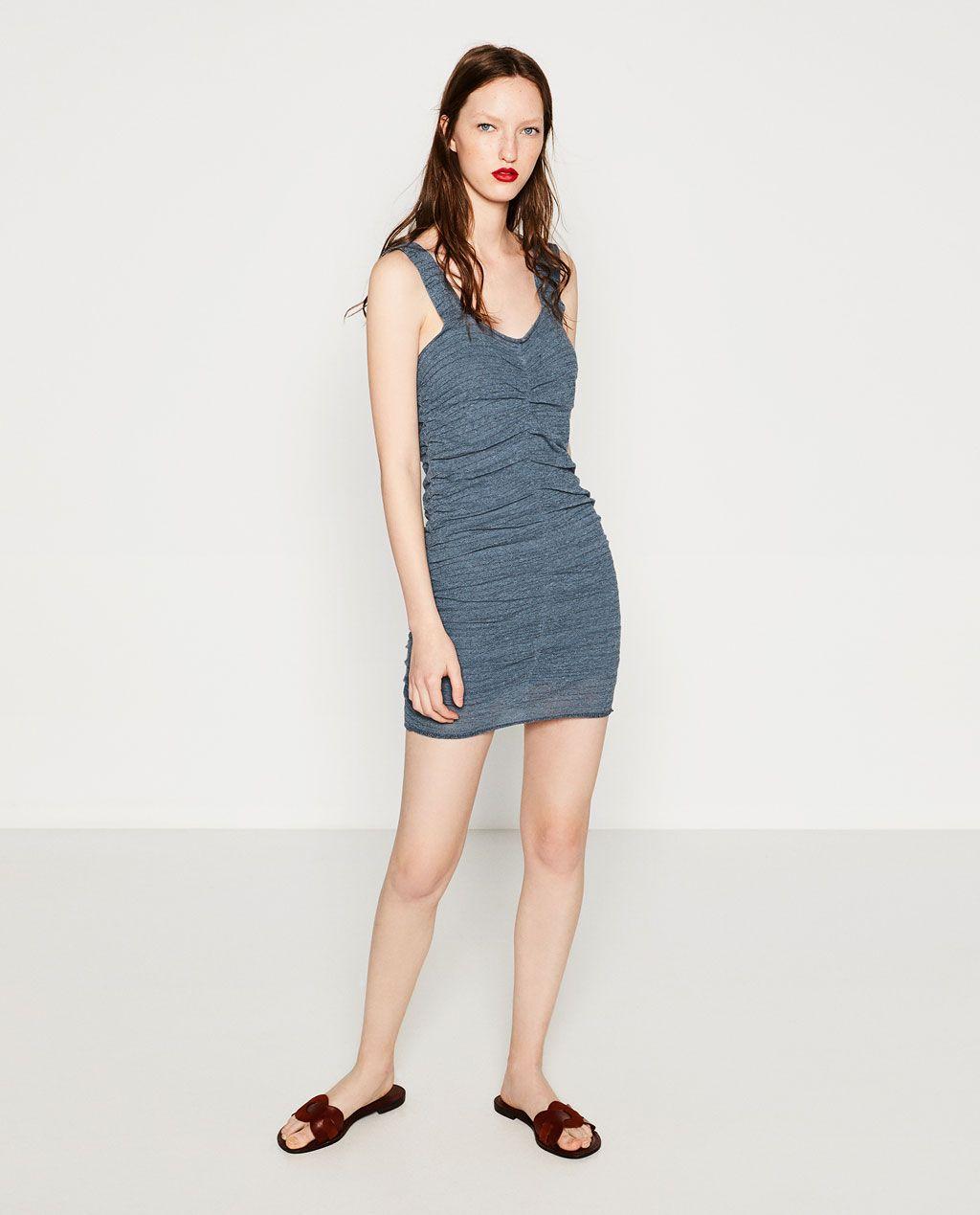 62b95711400d6 MINI DRAPED DRESS-View All-DRESSES-WOMAN | ZARA United States | Style
