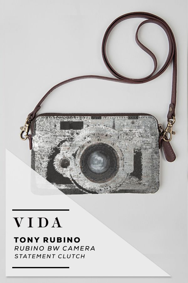 Statement Clutch - Vector on Gray S. Clutch by VIDA VIDA