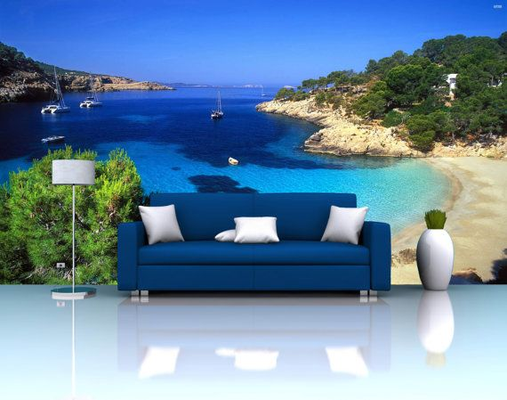 Ibiza Beach Repositionable Wall Mural By FotoWalls. Custom Removable Wall  Paper, Murals U0026 Decals Part 91