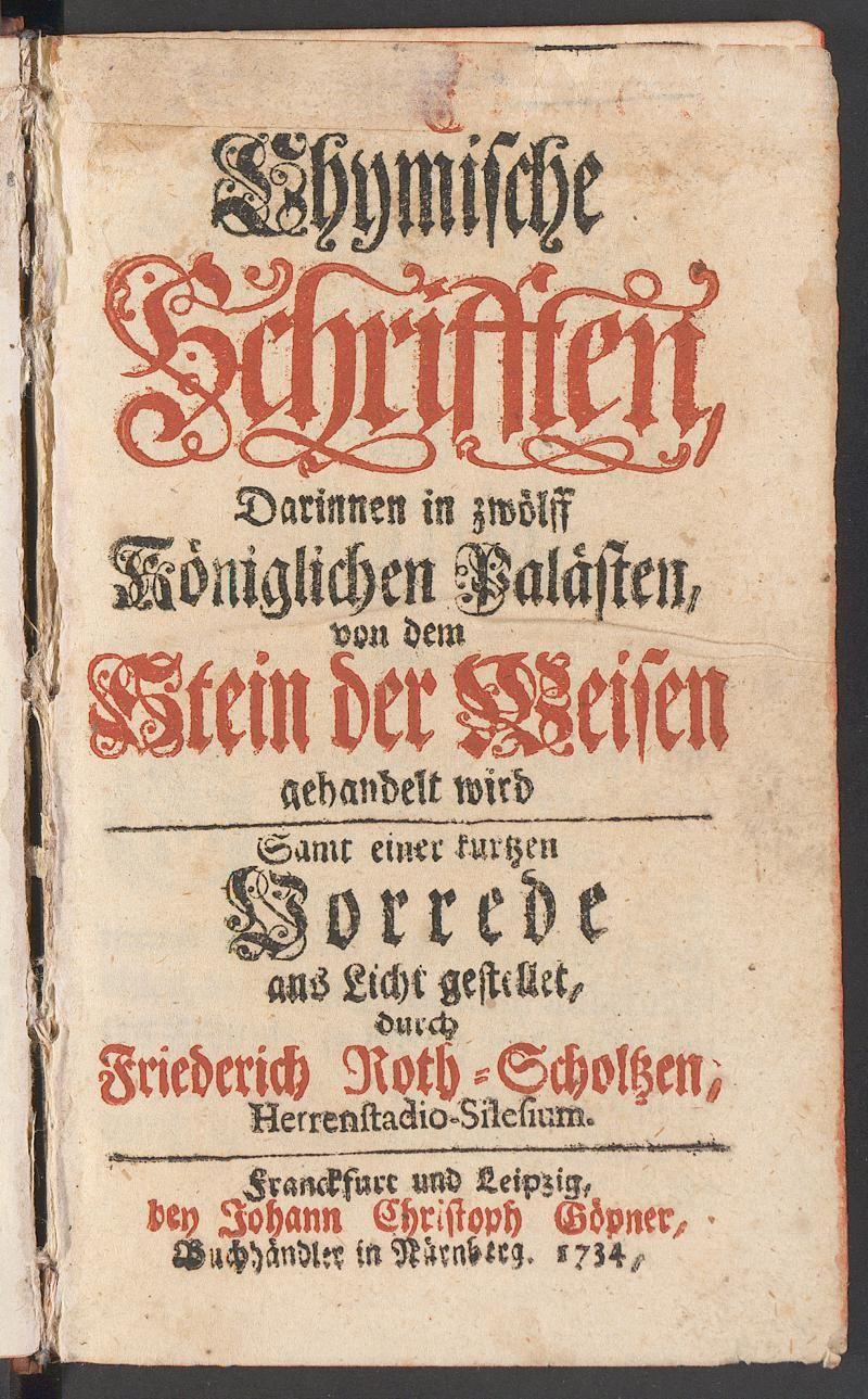 """""""treasure of the heavenly wisdom"""" - Das edele Perlein und theurer Schatz der himmlischen Weisheit"""
